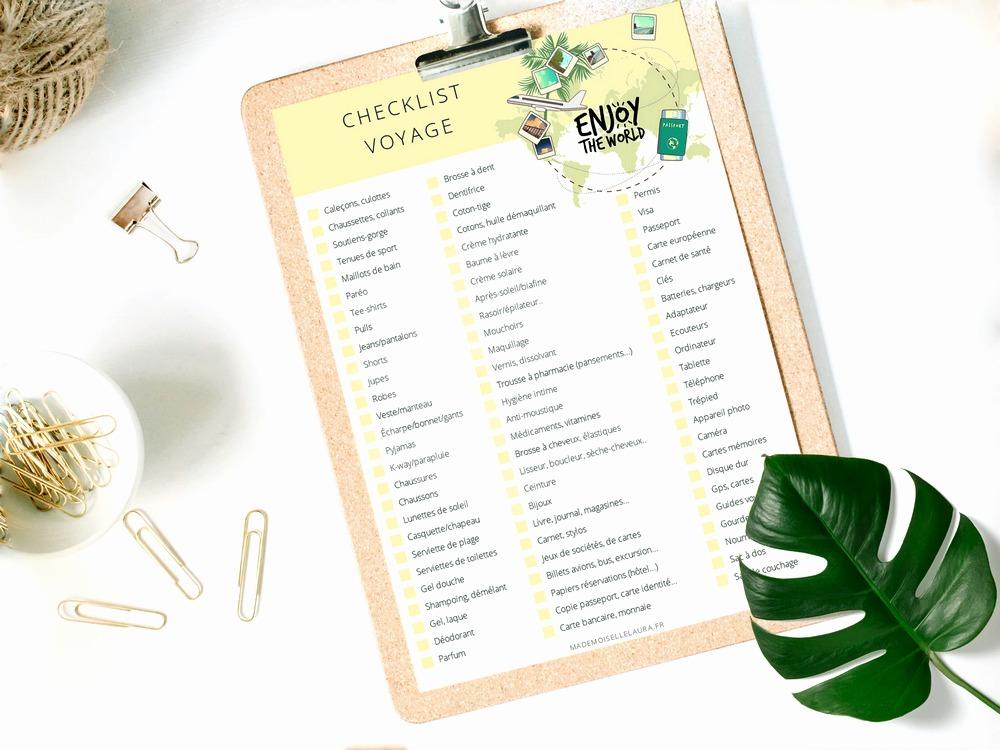 Checklist voyage